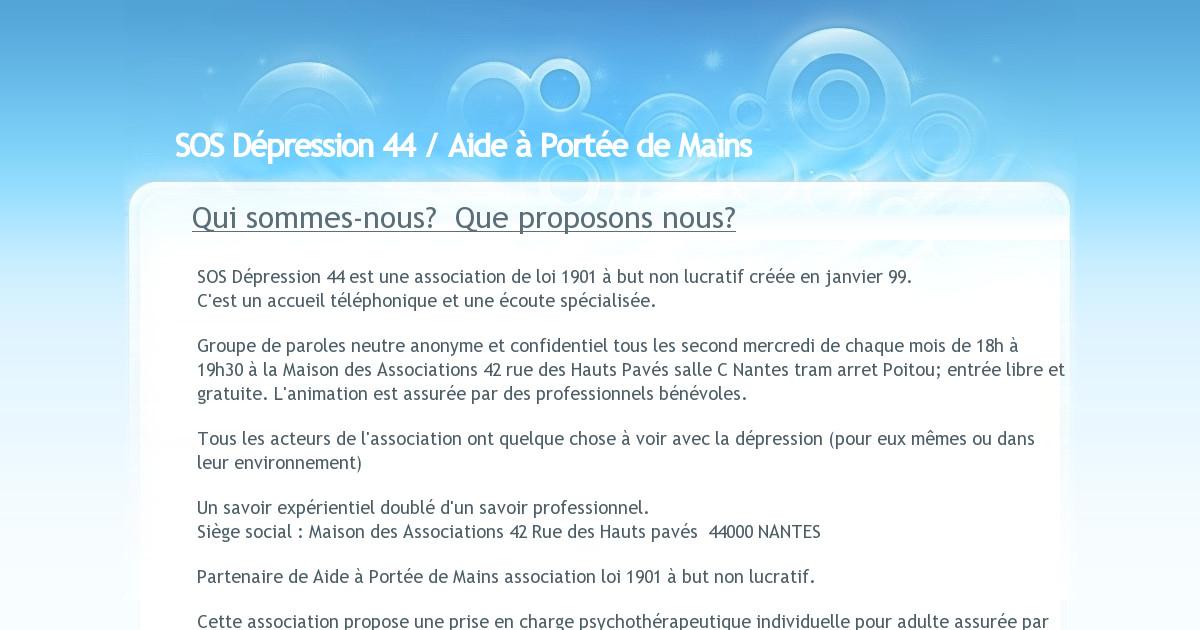 Sos Depression 44 Presentation